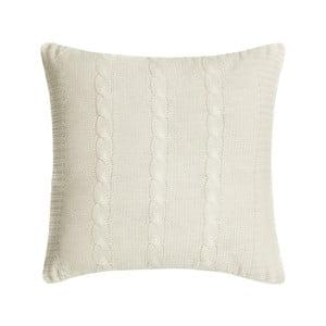 Pletený povlak na polštář Fancy Bone, 45x45 cm