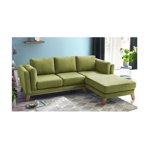 Canapea cu șezlong pe partea dreaptă Bobochic Paris Seattle, verde deschis