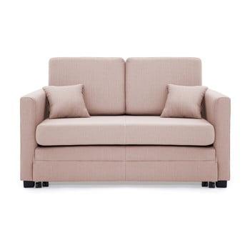 Canapea extensibilă, 2 locuri, Vivonita Brent, roz deschis de la Vivonita
