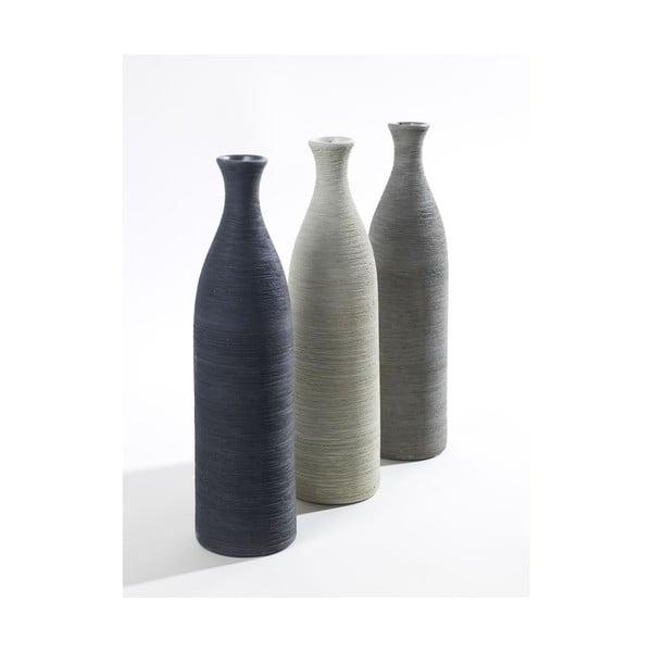 Sada 3 váz Silhouette Grey, 34 cm