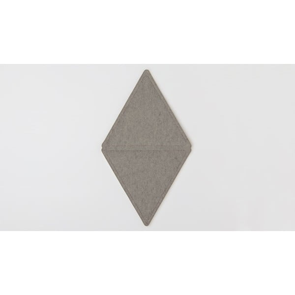 Modulový nástěnný koberec Edera, tmavě šedý