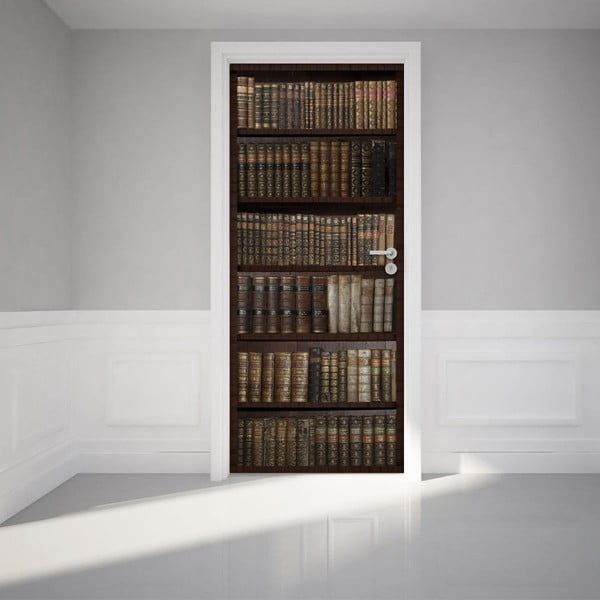 Antystatyczna naklejka na drzwi Ambiance Bookshelf
