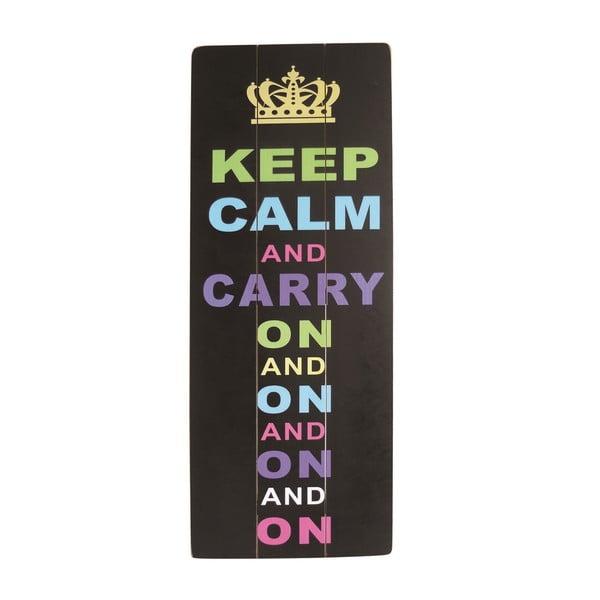 Závěsná cedule Keep Calm, 80x30 cm