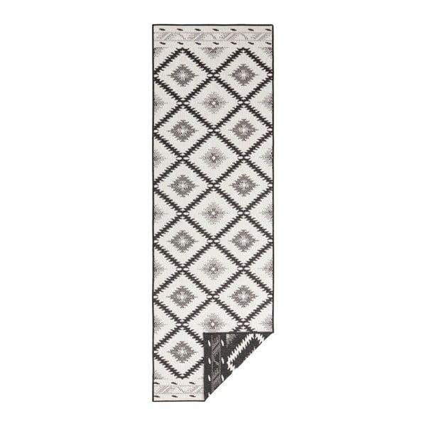 Covor adecvat pentru exterior Bougari Twin Supreme Duro, 80 x 250 cm, negru-crem