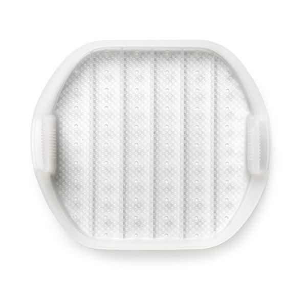 Biała silikonowa wielofunkcyjna tacka do pieczenia na 1 - 2 porcje Lékué