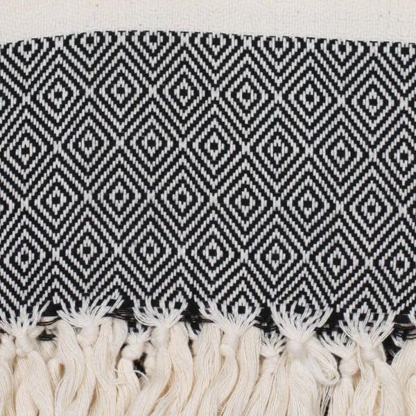 Ručník Nordic 180 x 100 cm, Black
