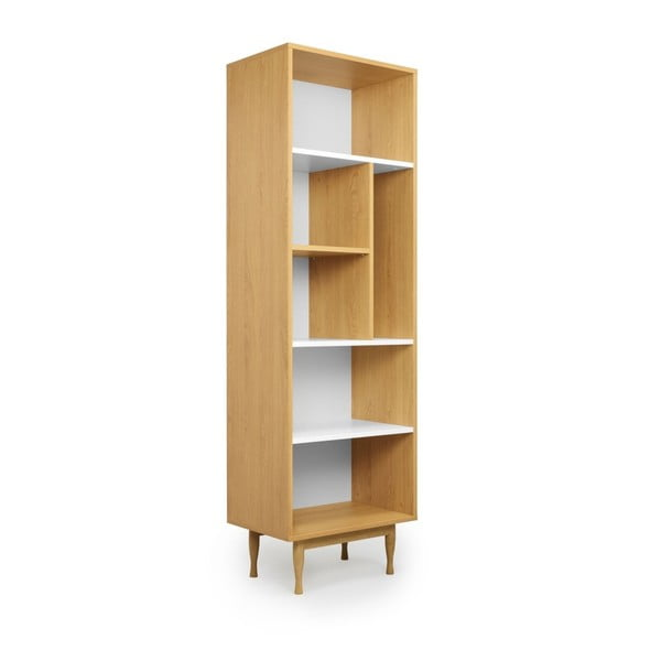 Knihovna s nohami z dubového dřeva SKANDICA Elza