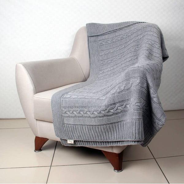 Šedá deka Tete,170x130cm