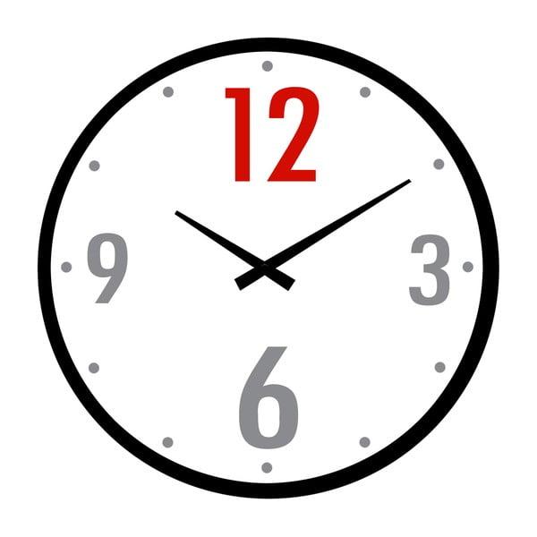 Skleněné hodiny Dvanáct, 34 cm
