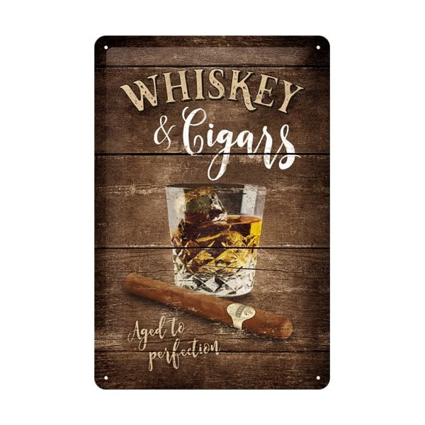 Plechová cedule Whiskey, 20x30 cm