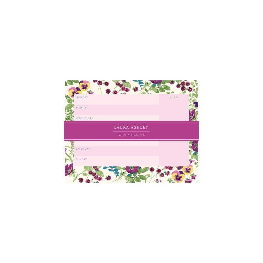 Týdenní plánovač Laura Ashley Parma Violets by Portico Designs, 54 stránek