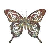 Kovový motýl na zeď, 34 cm