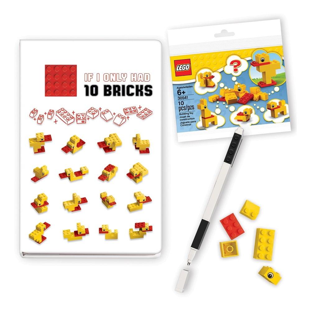 Sada zápisníku, pera a stavebnice LEGO® Stationery Classic Ducks