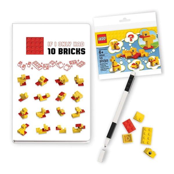 Set agendă, pix și piese de construit LEGO® Stationery Classic Ducks