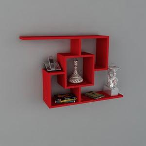 Police Samara Book Red, 22x100x64 cm
