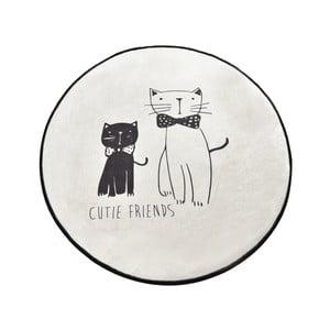 Koupelnová předložka Homefesto Little Cats, ⌀ 100 cm