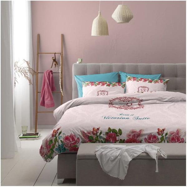 Povlečení na jednolůžko Suite Pink, 140x200 cm