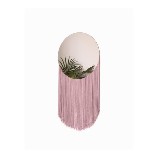 Nástěnné zrcadlo s dekorativními třásněmi Surdic Moon Rosa