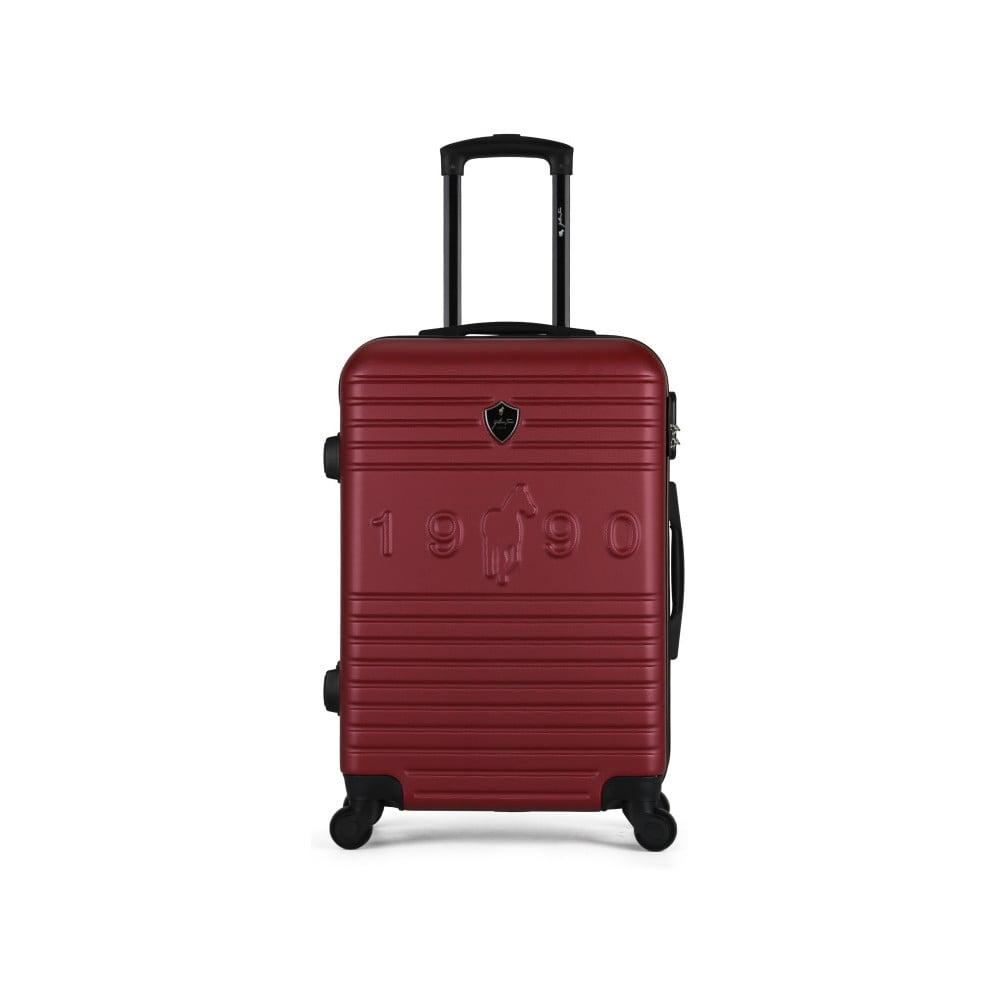 Vínový cestovní kufr na kolečkách GENTLEMAN FARMER Valise Grand Cadenas Integre, 35 x 55 cm