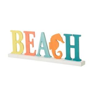 Dřevěná dekorace Unimasa Beach, 43,5 x 15,5 cm