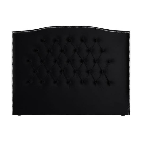 Černé čelo postele Mazzini Sofas, 180 x 120 cm