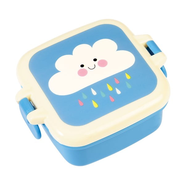 Cutie prânz cu imprimeu nori Rex London Happy Cloud, albastru
