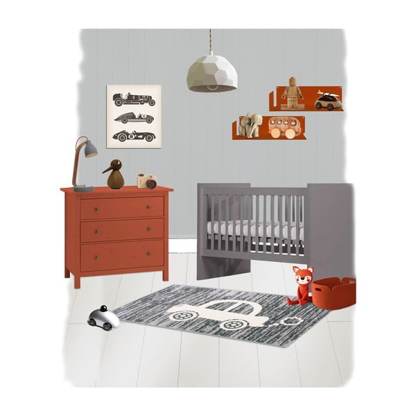Dětský koberec Nattiot Mr Car, 80x150 cm