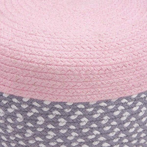 Dětský růžový sedací pufík Nattiot Brenda