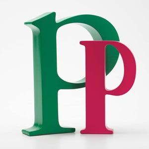 "Malé ""p"" 17x14 cm, zelená"