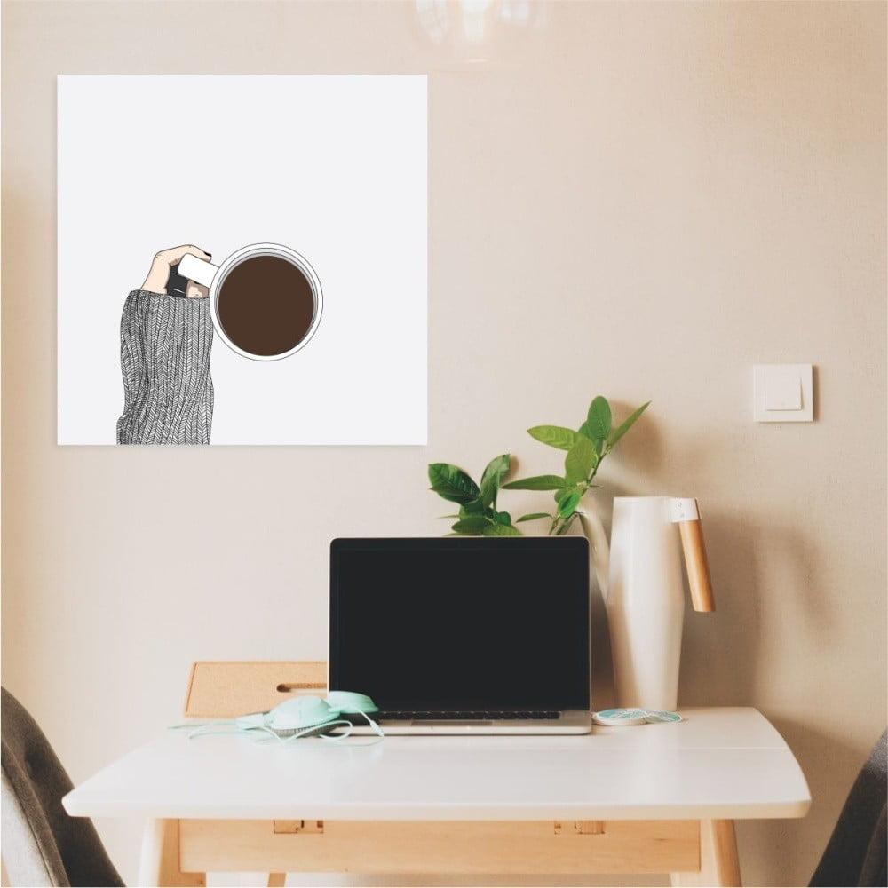 Nástěnný samolepicí obraz North Carolina Scandinavian Home Decors Coffee, 30 x 30 cm