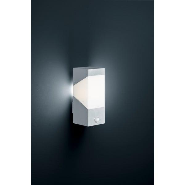 Venkovní nástěnné světlo s pohybovým čidlem Rio Titanium, 25 cm