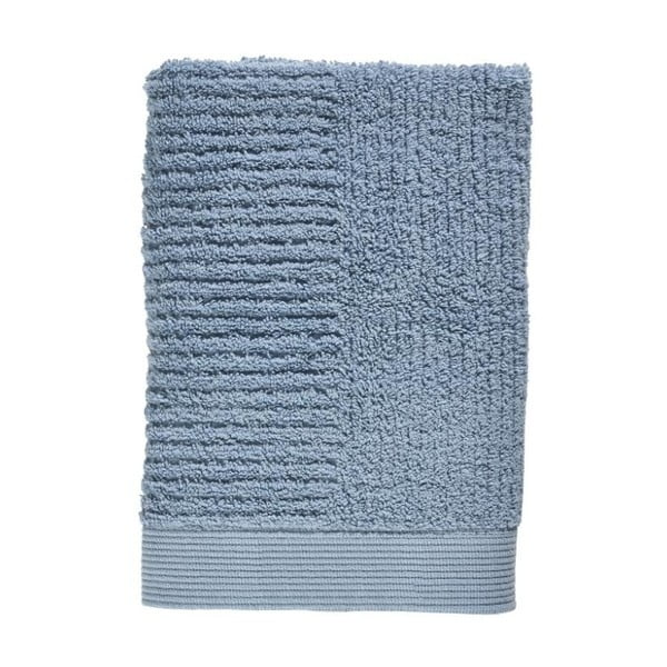Modrý uterák zo 100% bavlny Zone Classic Blue Fog, 50×70 cm