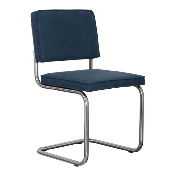Sada 2 tmavě modrých židlí Zuiver Ridge Brushed Vintage