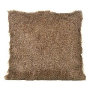 Polštář Fur Look Brown