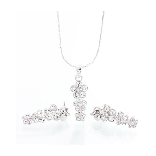 Set náhrdelníku a náušnic Laura Bruni Long Flower