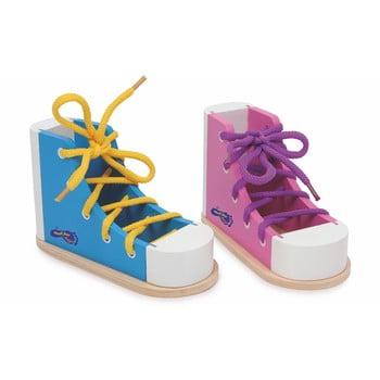 Pantofi din lemn pentru exersat legatul la șireturi Legler Coloured imagine