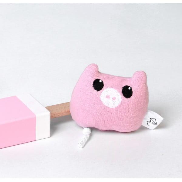 Mini plyšák Prase v krabičce, růžový