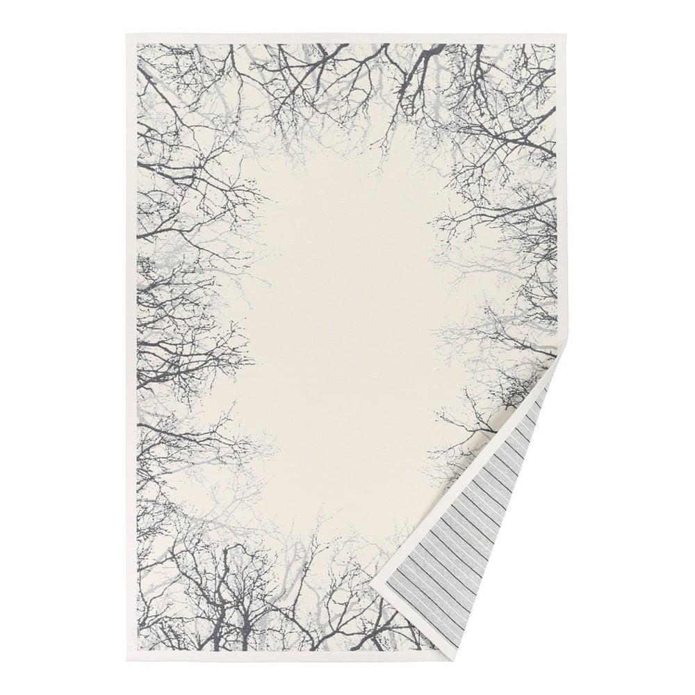 Bílý vzorovaný oboustranný koberec Narma Puise, 70 x 140 cm