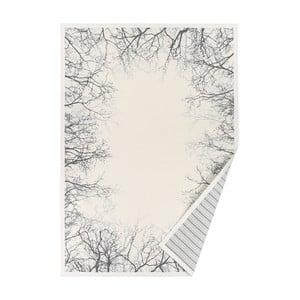 Bílý vzorovaný oboustranný koberec Narma Puise, 70x140cm