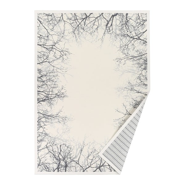 Bílý vzorovaný oboustranný koberec Narma Puise, 140 x 200cm