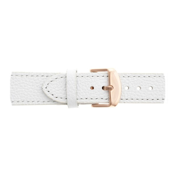 Dámské hodinky s bílým páskem z pravé kůže Frederic Graff Panguro