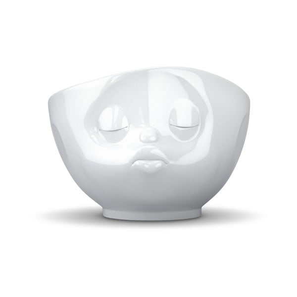 Bol din porțelan în formă de față cu sărut 58products, alb