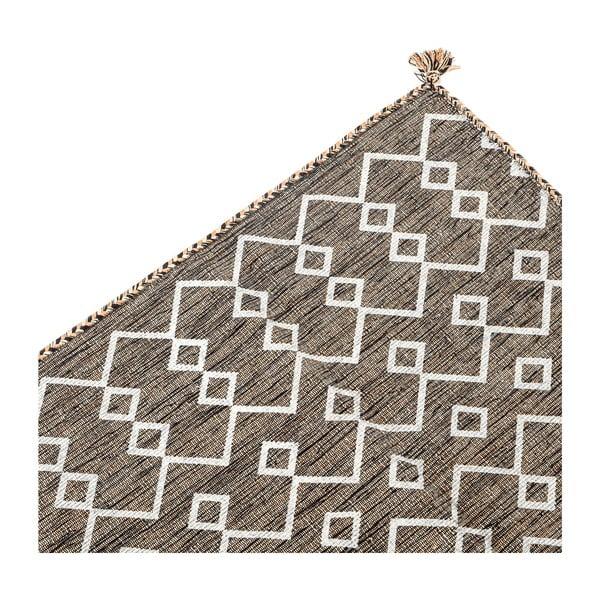 Hnědý ručně tkaný koberec Navaei & Co Kilim Elegant 52, 110x60cm