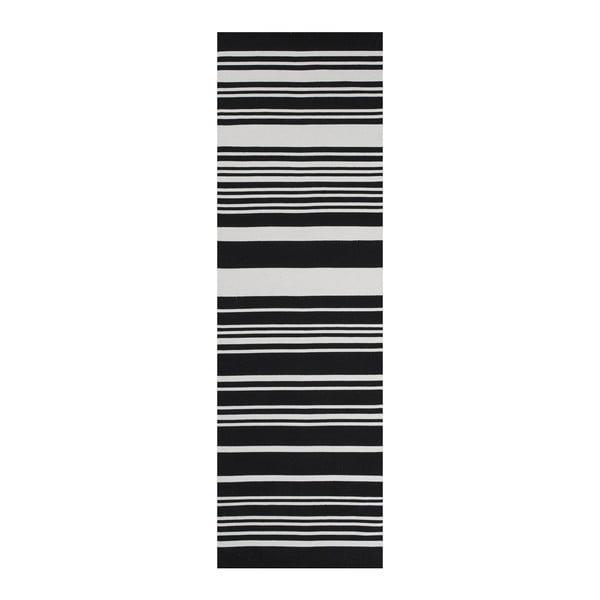 Černý bavlněný koberec Linie Design Glorious, 60x90cm