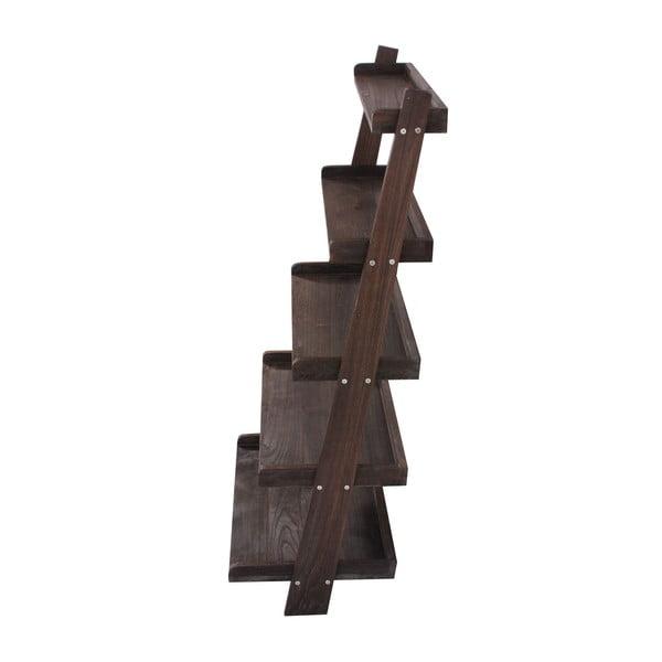 Hnědý dřevěný stojan s policemi Mendler Shabby
