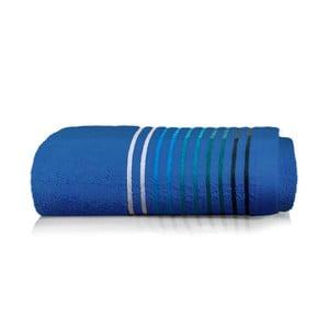 Modrý bavlněný ručník Maison Carezza Linea, 50 x 90 cm