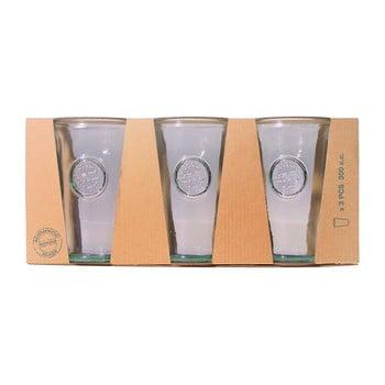 Set 3 pahare din sticlă reciclată EgoDekorAuthentic, 300 ml imagine