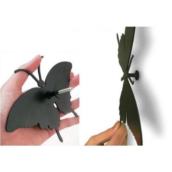 Designové hodiny Butterfly Violet, 40 cm