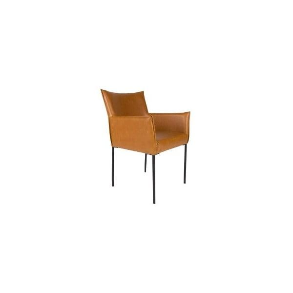 Koňakově hnědá jídelní židle White Label Dion