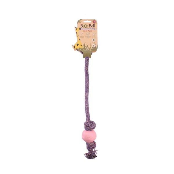 Provaz s míčkem na hraní Beco Rope 40 cm, růžový